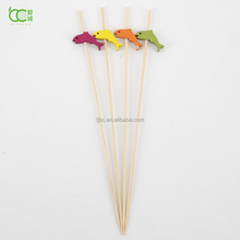 Beautiful fish colorful Beaded bamboo pick