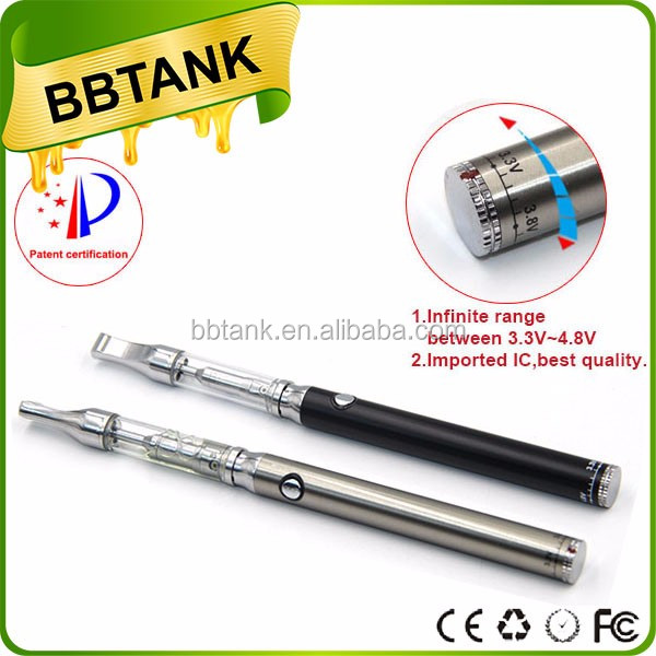Official Slim E Cigarettes BBTANK GLS Hemp Oil Atomizers CO2 Extract CBD Oil Cartridge 510 Glass Vaporizer with private label