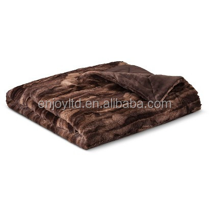 "50x60"" hot selling microplush faux fur 100% polyester cheap blanket"