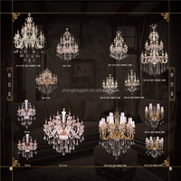 Buy Pendant Lights chandeliers amber color crystal in China on ...