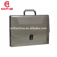 Customized A4 plastic pp clear polypropylene document holder file folder/box /case with handle