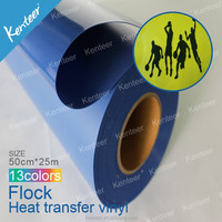 Kenteer customized designer heat transfer flock roll