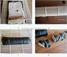 White skin Bamboo sushi rolling mat for food