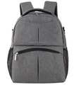 Waterproof Diaper backpack with linen material.