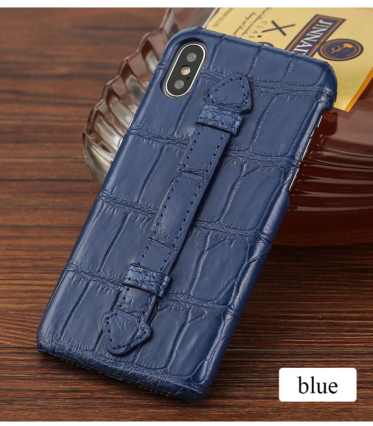 Genuine Crocodile Leather Phone Case With Handle