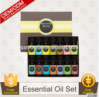 GC-MS Pure natural Essential Oil aroma set 14 bottles/10ml Therapeutic grade Basic Sampler kit for Amazon global
