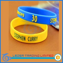 Customized logo promotional gift basketball reflective funny silicone wristband