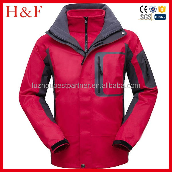 New style popular mens outdoor ski jacket with comfort inner wear