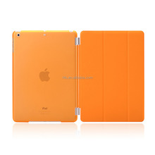 Full Protector Leather Hard Smart Cover and Rubberized Back Case for iPad Pro 9.7 Case, Detachable, Orange