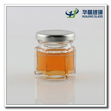 30ml 1 oz empty mini glass jar for honey with cap wholesale