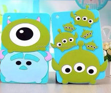 Cute silicone case back cover for ipad mini 4, Cartoon cover for ipad mini 4