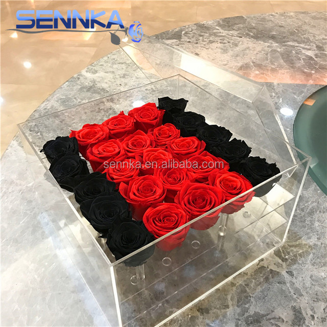 Supply Real touch rose pure color preserved rose head stabilized flower