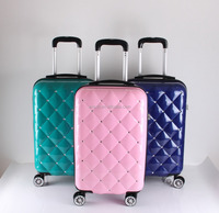 abs pc luggage carry on luggage airport trolley suitcase bag