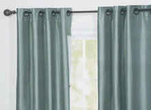 100%polyester ready-made faux silk curtain made in china
