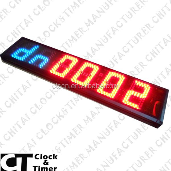 Digital Bright Large Display Outdoor LED Clock Time Date Temperature Sign