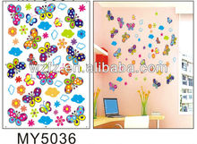 Butterfly waterproof transparent removable self-adhesive 3d acrylic mirror wall sticker paper