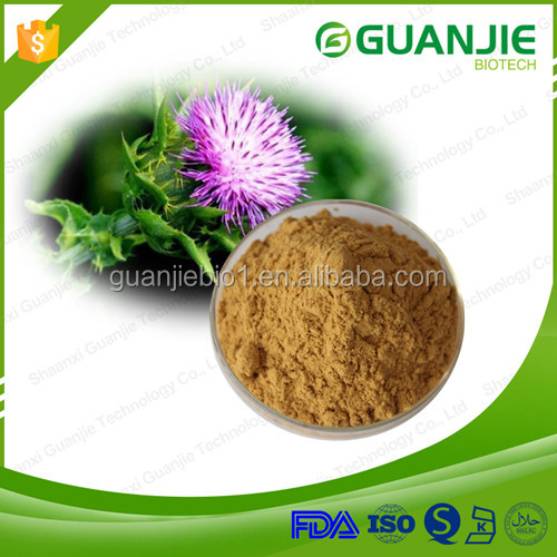 13 years manufactory supply high quality 80% silymarin, extract from milk thistle, milk thistle extract