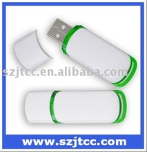 8GB Memory OEM USB Flash Drive Manufacturer White and Green USB