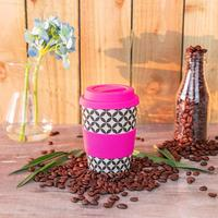 400ml 500ml biodegradable custom eco keep takeaway travel cup wholesale bamboo reusable fiber coffee cup with lid straw