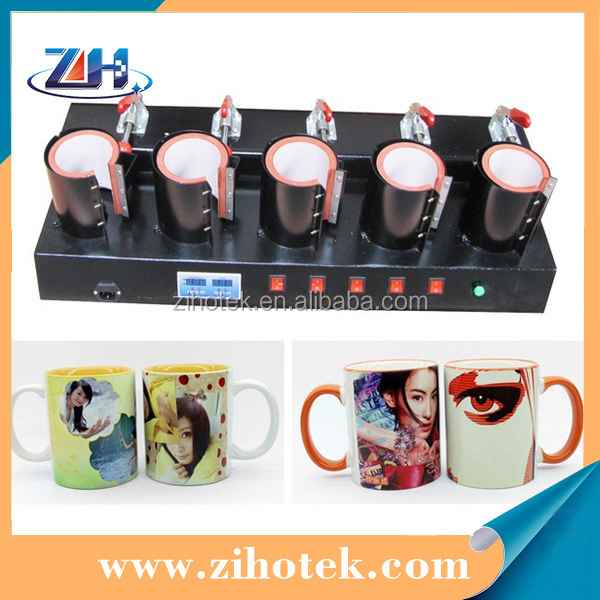 High quality wholesale 5 heating mats mug press machine