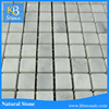 Classic carrara white 1.5*1.5 square wall cladding marble mosaic tiles