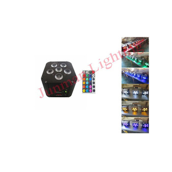 6*18W RGBWAUV 6 in 1 Wireless DMX IR Remote Control Battery Powered Led Par64 Can Uplights DJ Stage Lighting
