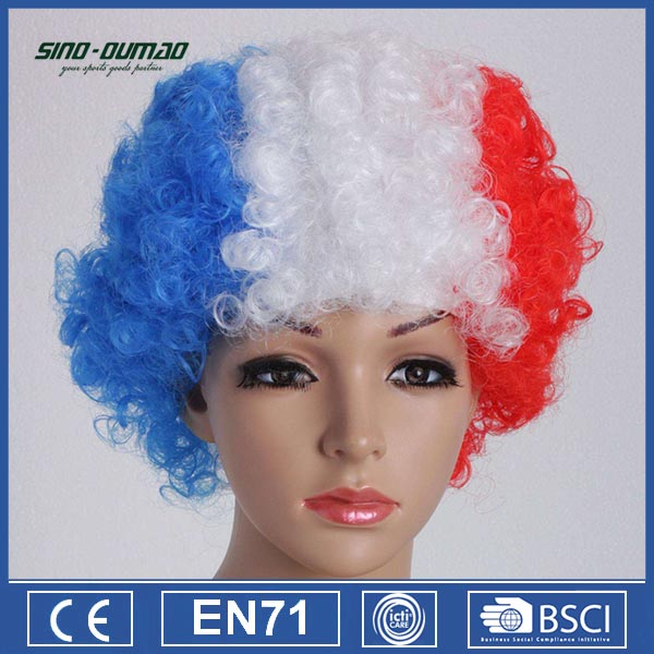 Europe Championship Football Sports Fans Wig