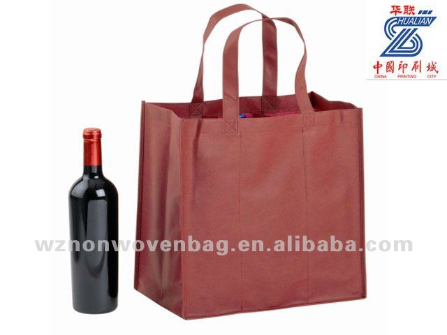 2014 cheap custom eco 6 wine bottle tote bag(HL-6016)