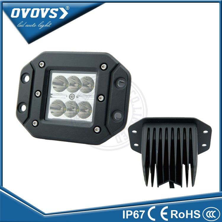 New 3inch 10-30v 18w c-ree led strobe working light IP 67 for truck 4x4 atv suv car