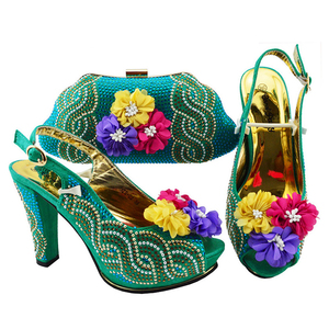 Hot italian shoes and bag set for Nigeria party Fashion Nigeria party shoes and bag set