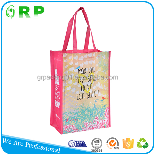 BSCI OEM printed foldable durable handle custom reusable shopping bag