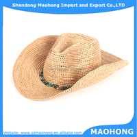 New product cowboy raffia straw hat
