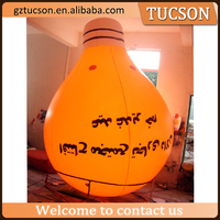 wholesale customized large inflatable light bulb helium balloon for sale