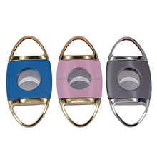 Super Sharp Color Metal Double Blades Guillotine Cigar Cutter High Quality