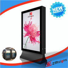 Post board solar powered outdoor scrolling light box sign board advertising