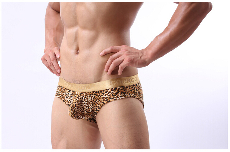 HOT SALE Men's Leopard Briefs Underwear Low-Rise Ultra-thin Men Briefs Seamless Traceless Sexy lingerie Panties Briefs No.222