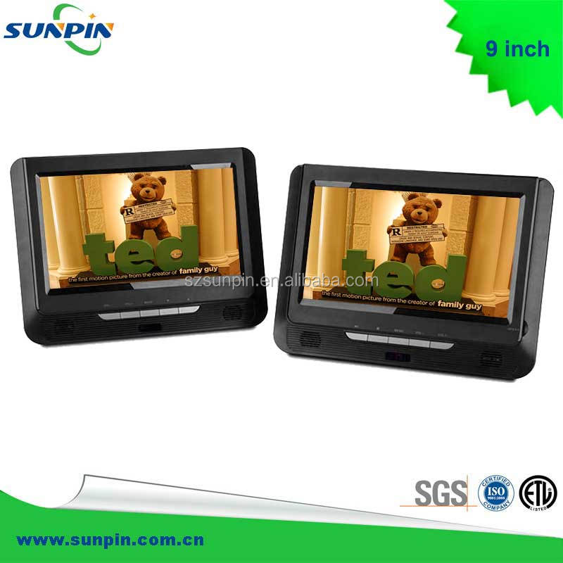 "HOT! DUAL 9"" WIDE SCREEN PORTABLE DVD/MP3 PLAYER SEXY VIDEO MEDIA PLAYER"