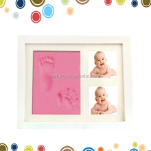Brand new baby handprint and footprint white wall mounted picture frame