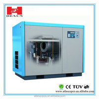 small silent water lubricated oilfree screw air compressors 4kw