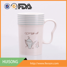 Hot Selling 12 oz ceramic mugs are eco friendly White Coffee Cup logo custom decals