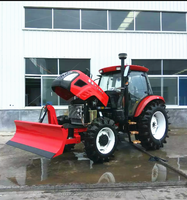 High quality 60hp 70hp 75hp 90hp 4wd farm tractor with front end loader and backhoe