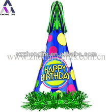 Blue birthday decoration paper hats