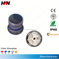 IP68 CE flashing white led solar marine light