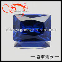lab created tanzanite rectangle cut zircon stone