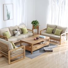 Solid wood <strong>furniture</strong> Northern Europe modern Schaabe sofa solid wood flexible package living room sofa oak <strong>furniture</strong>