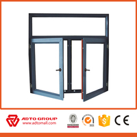Size Customized Cheap Casement Windows/ Safety New Design Tempered Glass Wholesale Aluminium Windows
