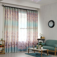 New products window cotton big flower print curtain curtains