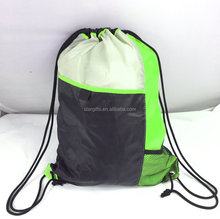 Lightweight 600D Custom Sports Drawstring Backpacks With Earbud Port