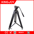 2017 hot sale factory manufacturing aluminum alloy camera video tripod with pan and tilt head VT2500