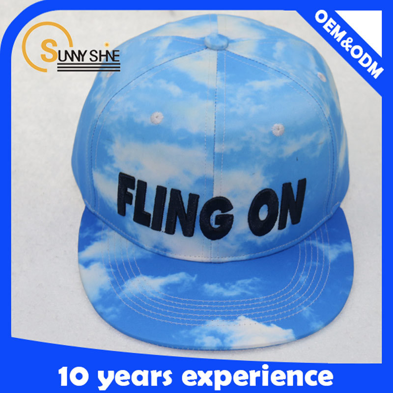 2015 hot new product Blue Sky and white cloud snapback caps